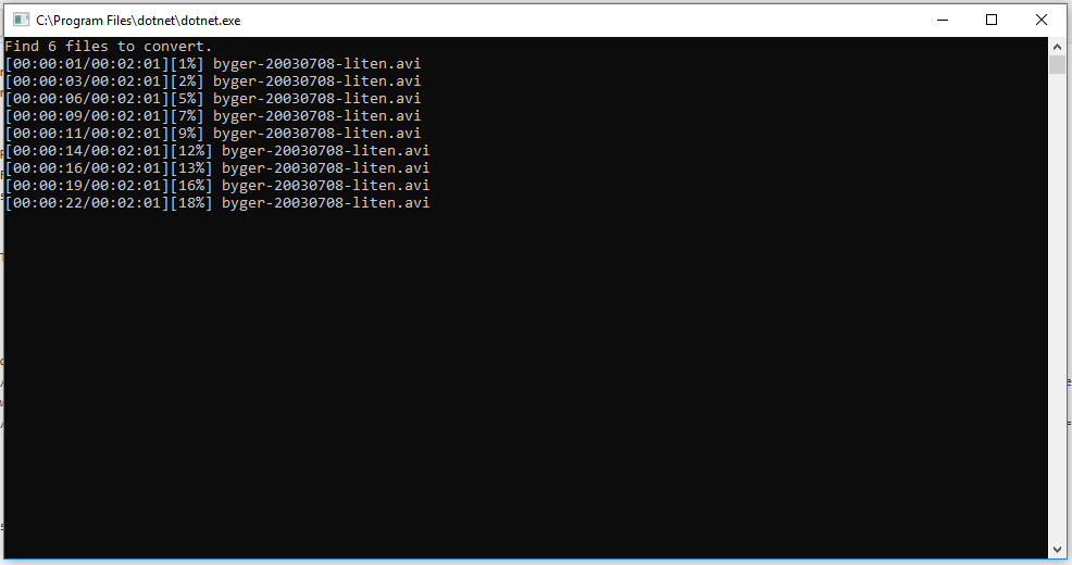 console output after adding log